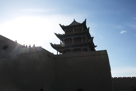 One of the big towers, Beijing Hikers Journey from the West October, 2012