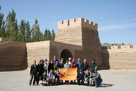 the north of the Jiayuguan Fortress, Beijing Hikers Journey from the West October, 2012