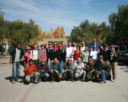 the hiking group, Beijing Hikers Journey from the West October, 2012