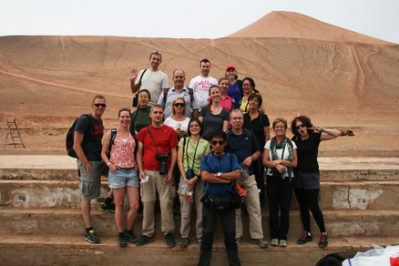 the Flaming Mountains, Beijing Hikers Journey from the West October, 2012