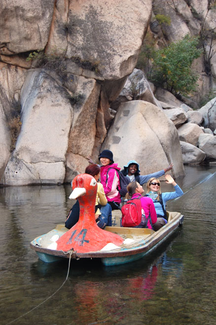 Duck Boat coming through!, Beijing Hikers Dragon Spring Valley, October17,2012
