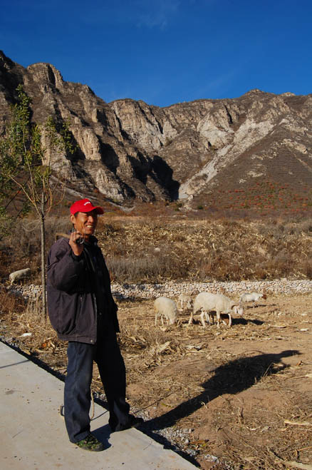 A local herder, Beijing Hikers Cypress Wells Canyon hike, October 31, 2012