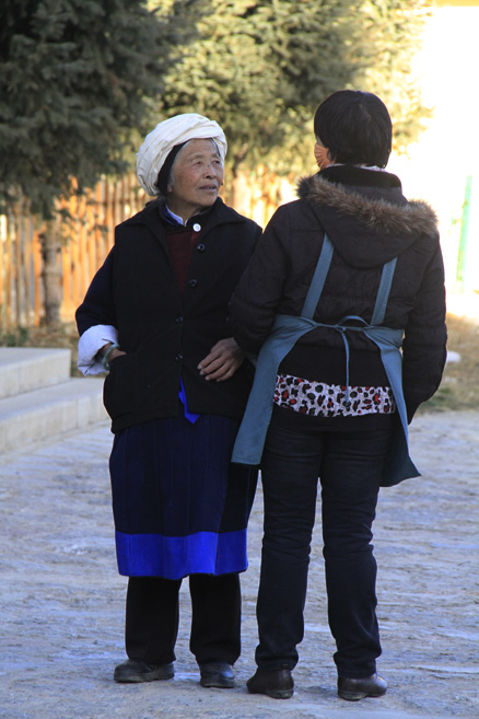 Local ladies, Beijing Hikers Lijiang and Shangri-La, Nov14, 2012