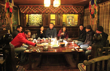 a dinner, Beijing Hikers Lijiang and Shangri-La, Nov14, 2012
