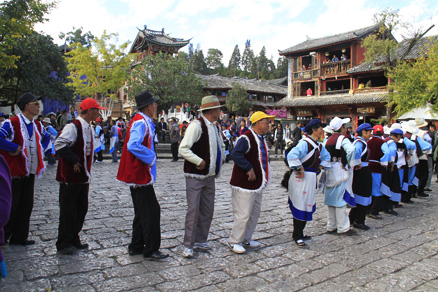 A dancing group, Beijing Hikers Lijiang and Shangri-La, Nov14, 2012