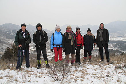 Hikers, Beijing Hikers Rolling Hills, Dec16, 2012