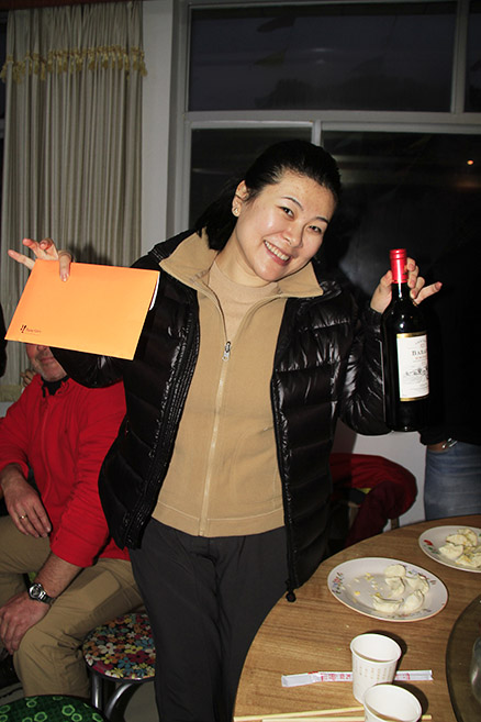 Winner number one, Beijing Hikers Gubeikou to Jinshanling Great Wall Christmas hike, Dec22, 2012