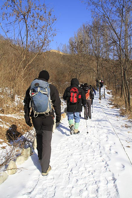 a little bit of snow, Beijing Hikers Gubeikou to Jinshanling Great Wall Christmas hike, Dec22, 2012