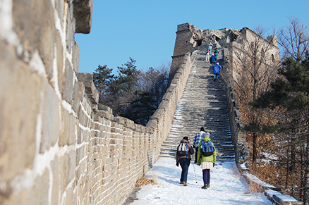 the Great Wall, Beijing Hikers Zhuangdaokou Great Wall and Hot spring, Dec26, 2012