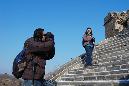 Winter, Beijing Hikers Zhuangdaokou Great Wall and Hot spring, Dec26, 2012