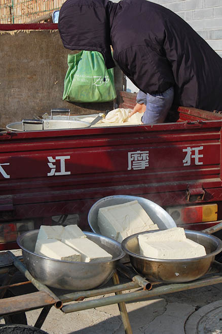 The tofu vendor, Beijing Hikers Zhuangdaokou Great Wall and Hot spring, Dec26, 2012