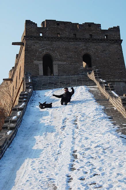 In a few places, Beijing Hikers Zhuangdaokou Great Wall and Hot spring, Dec26, 2012