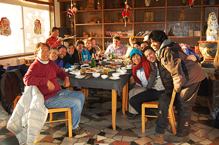 multi-course dinner, Beijing Hikers Zhuangdaokou Great Wall and Hot spring, Dec26, 2012