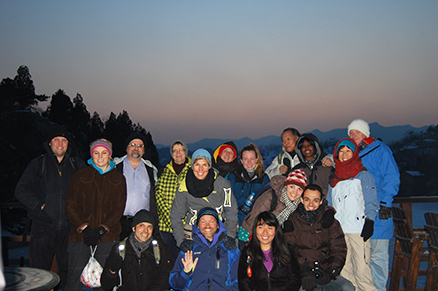 twilight, Beijing Hikers Zhuangdaokou Great Wall and Hot spring, Dec26, 2012