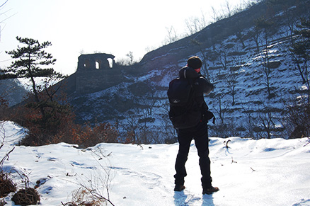 A hiker, Beijing Hikers Zhuangdaokou Great Wall and Hot spring, Dec26, 2012