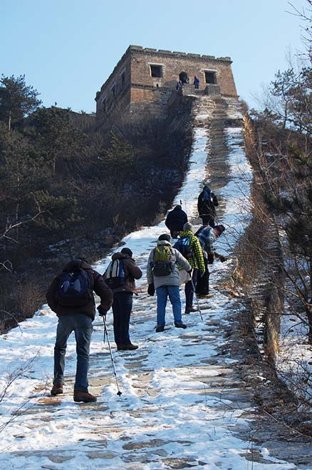 a challenge, Beijing Hikers Zhuangdaokou Great Wall and Hot spring, Dec26, 2012