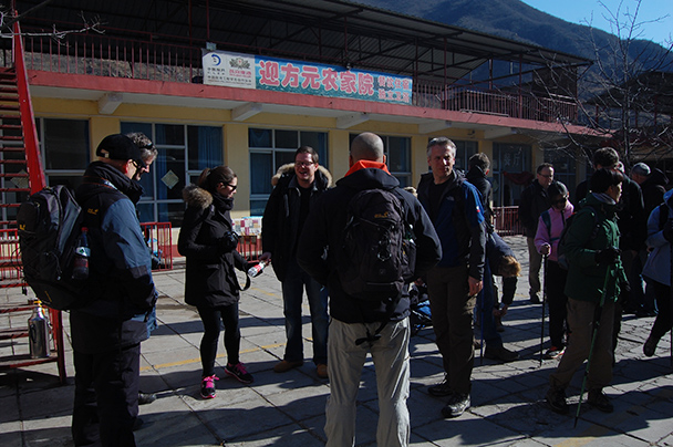 The restaurant, Beijing Hikers Huanghuacheng to the Walled Village, 2013/02/23