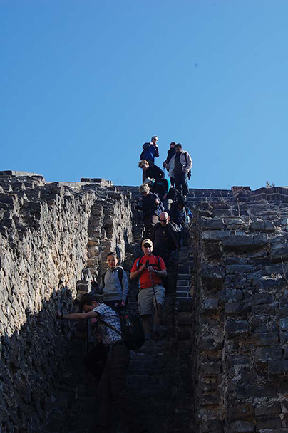 we start the descent, Beijing Hikers Huanghuacheng to the Walled Village, 2013/02/23