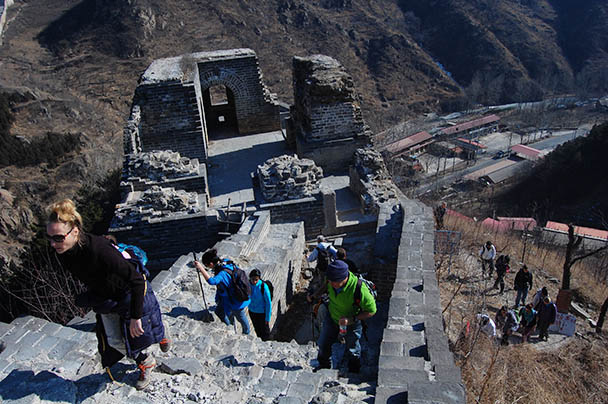 Great Wall tower, Beijing Hikers Huanghuacheng to the Walled Village, 2013/02/23