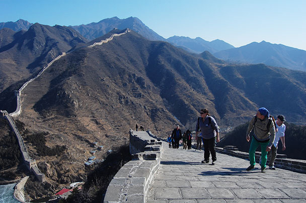 the first part of the Great Wall, Beijing Hikers Huanghuacheng to the Walled Village, 2013/02/23