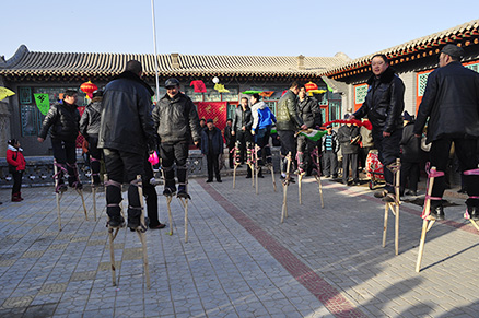 Gaoqiao, Beijing Hikers Nuanquan (Warm spring town) town Chinese new year visiting at Yu County in Hebei province, 2013/02/12-13, 23-24