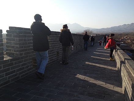 city wall, Beijing Hikers Nuanquan (Warm spring town) town Chinese new year visiting at Yu County in Hebei province, 2013/02/12-13, 23-24