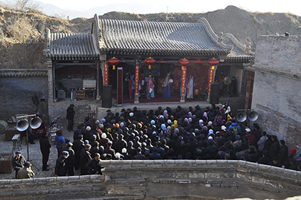 A local opera shown, Beijing Hikers Nuanquan (Warm spring town) town Chinese new year visiting at Yu County in Hebei province, 2013/02/12-13, 23-24
