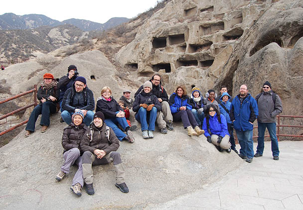 Our group photo, Tang Dynasty Dwellings and Yongning Town, 2013/3/2