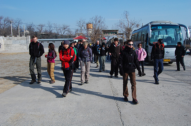 Our group, Beijing Hikers Vulture Rock Park to Miaofeng Mountain, 2013/03/03