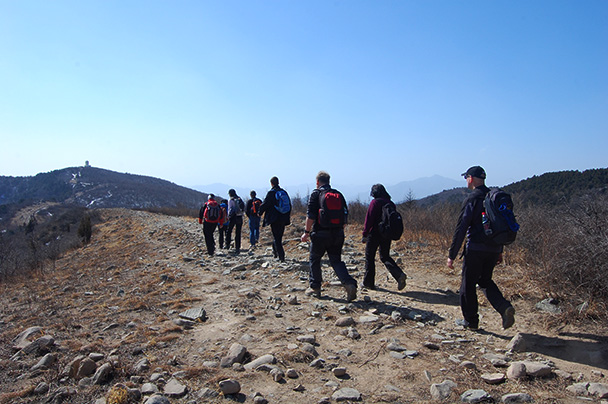 The group, Beijing Hikers Vulture Rock Park to Miaofeng Mountain, 2013/03/03