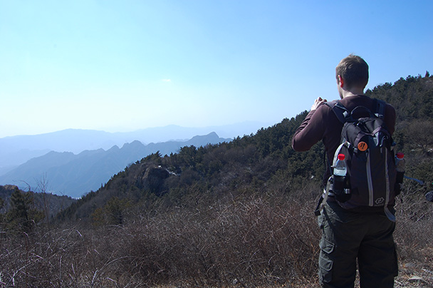 photo opportunities, Beijing Hikers Vulture Rock Park to Miaofeng Mountain, 2013/03/03