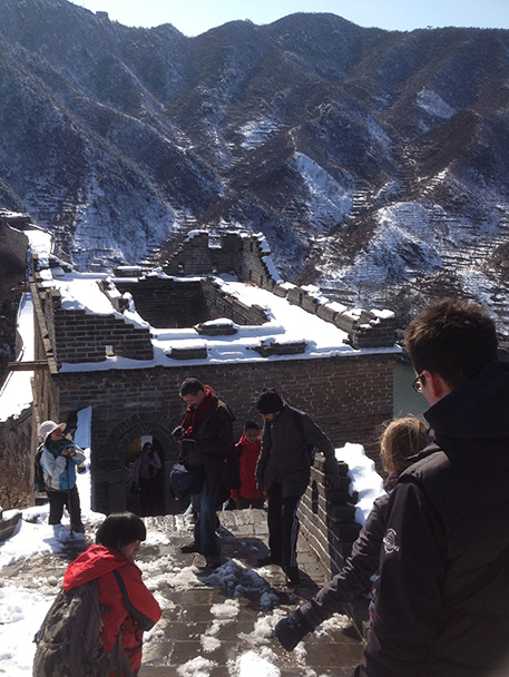 the top of the tower, Beijing Hikers Walled Village to Huanghuacheng Great Wall hike, 2013/03/20