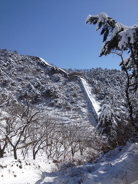 thick snow, Beijing Hikers Walled Village to Huanghuacheng Great Wall hike, 2013/03/20