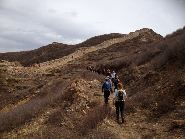 the wall as we walked,Beijing Hikers Yanqing Great Wall, 2013/04/13