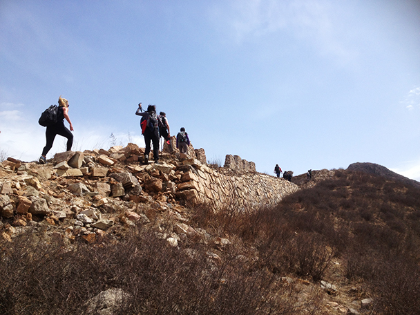 It was a windy day,Beijing Hikers Yanqing Great Wall, 2013/04/13