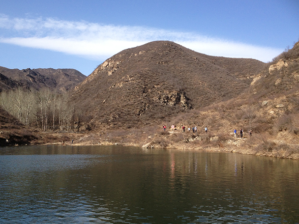 Another photo of the reservoir,Beijing Hikers Yanqing Great Wall, 2013/04/13