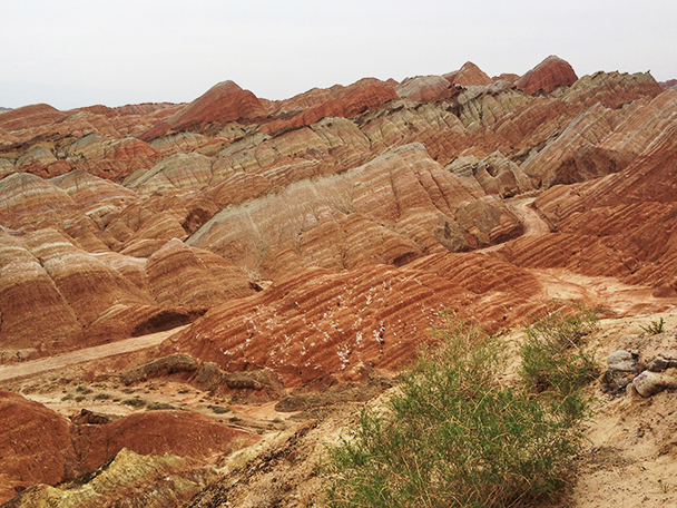 The coloured hills, Beijing Hikers ZhangyeTrip, 2013/05/29