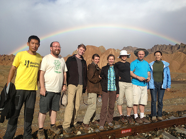 the rainbow,Beijing Hikers Korla to Kashgar 2013/06/10