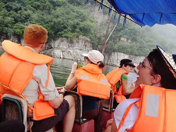 took a boat ride, Beijing Hikers Western Qing Tombs overnight, June 2013