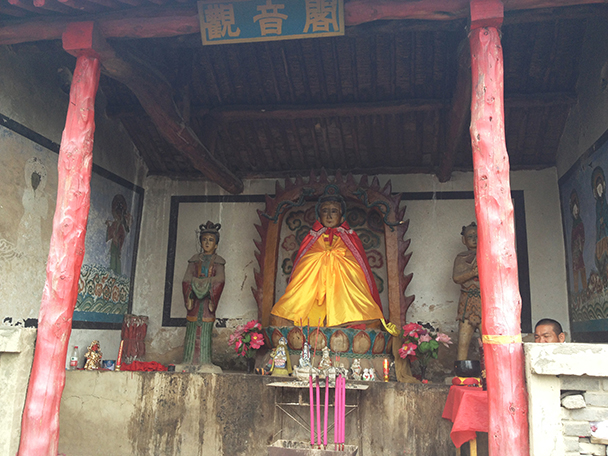 suburban shrine, Beijing Hikers Western Qing Tombs overnight, June 2013