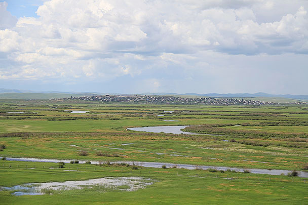 The river marks the border Inner Mongolia and Russia, Beijing Hikers Hulunbuir Grasslands 2013/07