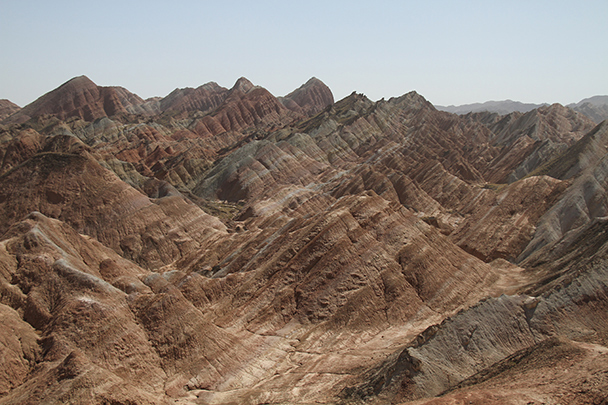 Coloured hills all around, Badain Jaran Desert and Zhangye Danxia Landform, 2013/09