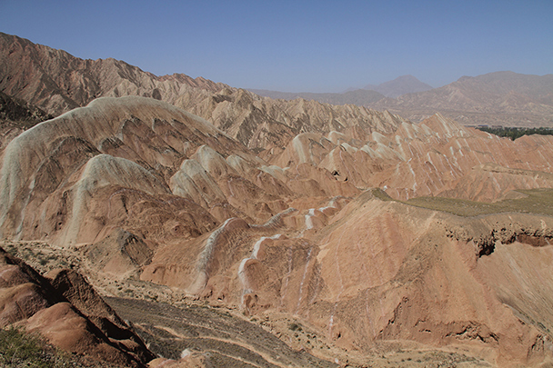 Hills and blue skies, Badain Jaran Desert and Zhangye Danxia Landform, 2013/09