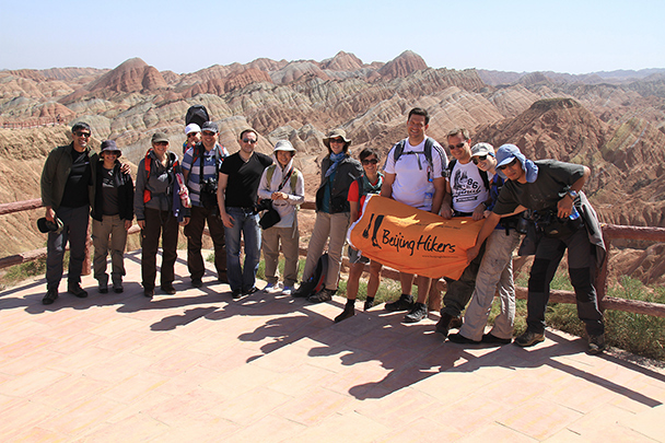 The hiking group, Badain Jaran Desert and Zhangye Danxia Landform, 2013/09
