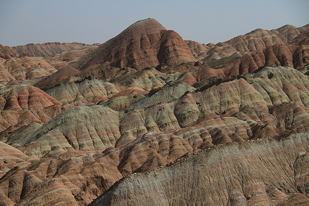 More of the coloured hills, Badain Jaran Desert and Zhangye Danxia Landform, 2013/09