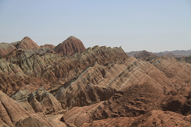 Hills and peaks, Badain Jaran Desert and Zhangye Danxia Landform, 2013/09