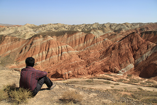 Here's where we had our lunch break, Badain Jaran Desert and Zhangye Danxia Landform, 2013/09
