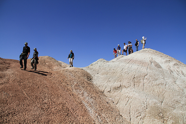 Hiking through the hills, Badain Jaran Desert and Zhangye Danxia Landform, 2013/09