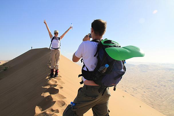 Made it to the top, Badain Jaran Desert and Zhangye Danxia Landform, 2013/09