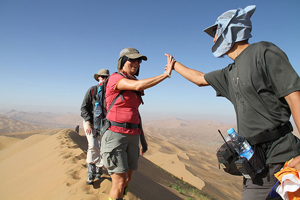 High five, you made it too, Badain Jaran Desert and Zhangye Danxia Landform, 2013/09